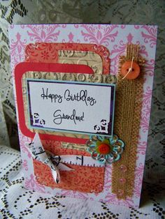 Birthday card for grandmother