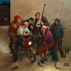 Marius van Dokkum& paintings show humorous and recognizable scenes from everyday life. The artist believes that humor makes his work access. Art Et Illustration, Illustrations, Art Mignon, Art Carte, Dutch Painters, History Channel, Dutch Artists, Norman Rockwell, Art Design