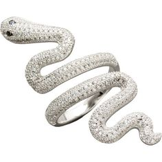 Silver Snake Ring ($60) ❤ liked on Polyvore featuring jewelry, rings, silver jewellery, coiled snake ring, silver snake jewelry, silver rings and silver jewelry