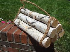 Birch Log Firewood. Bundle of 6. 18'' Long X 2 to 2.5'' Diameter birch log http://www.amazon.com/dp/B00DTH6QI6/ref=cm_sw_r_pi_dp_riQ9tb0MK6J6X