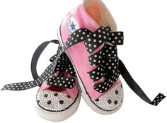 Baby Shoes - Trendy and Stylish Baby Shoes for Boys and Girls -Swarovski Polka Dot Converse Sneakers|LollipopMoon.com only $89.00 - Baby & K...