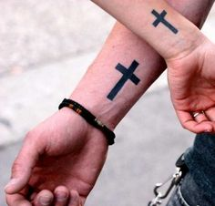 Simple cross tattoo. Want this only bigger
