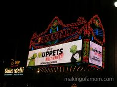 Muppets Most Wanted Premiere at the El Capitan Theater #Muppetsmostwantedevent