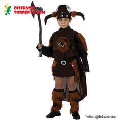 Disfraz de Vikingo para niños Estupendo disfraz de bárbaro nórdico, un Vikingo con muchas ganas de divertirse con sus amigos.
