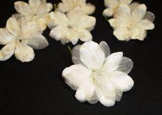 Silk Flowers  7 Delphinium Blossoms in Creamy by BlissfulSilks, $3.09