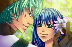 Jade epi 3 grüne Augen blaues Haar