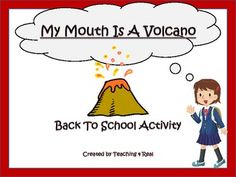 I have this book...I'll have to check out the activity...My Mouth Is A Volcano: Back To School Activity