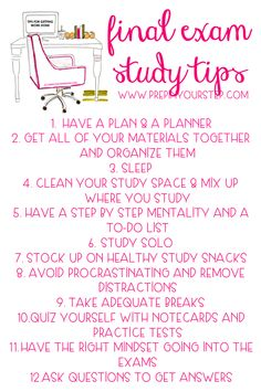 good study tips for final exams