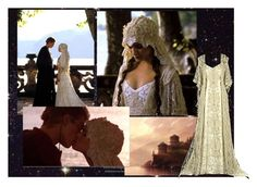"""8/50 - Padme's Wedding Gown (Star Wars Episode II: Attack of the Clones)"" by tiffycuss ❤ liked on Polyvore featuring wedding, two, white, film, skywalker, off white, clones, episode, star and amidala"