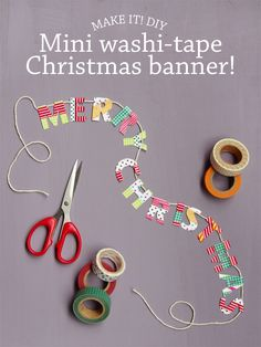 DIY mini washi-tape Christmas banner!