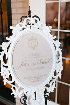 Wedding Sign  #DBbridalstyle  Style Me Pretty | Gallery