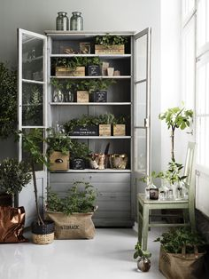 Lotta Agaton Grey cupboard