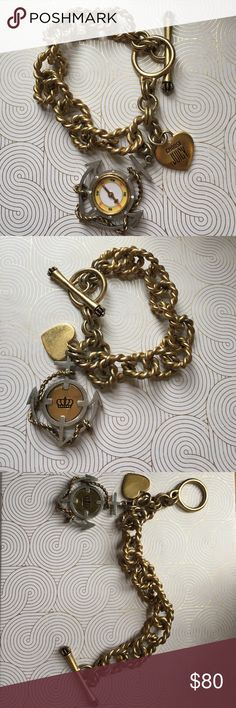 Nautical Anchor & Compass Bracelet Very rare Juicy Couture Bracelet from 2007. Nautical themed bracelet in very good condition. Open to offers. Juicy Couture Jewelry Bracelets