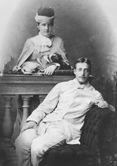 Their Imperial Highnesses Grand Duchess Olga Konstantinovna (1851–1926) and Grand Duke Konstantine Konstantinovich (1858–1915) of Russia