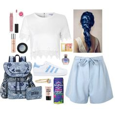 Apocalips is close by lucyheartyui on Polyvore featuring moda, Glamorous, adidas, Sakroots, WWAKE, NYX, Christian Dior, Clinique and Sirena