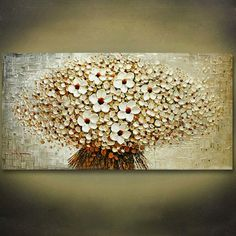 100% handmade thick palette knife oil painting on canvas beige colour plain abstract flowers cuadros decoracion modernos cheap