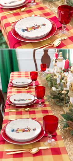 Tips and tricks for setting the Christmas table from tablescape designer Courtney Whitmore. Get inspired with lots of inspirational images!