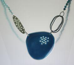 Silver, Enamel, semi-precious beads - Caroline Finlay