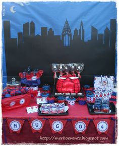 Spiderman Party Table #spiderman #party