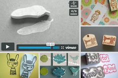 Can make your own rubber stamps with erasers too (don't need the special artists' stuff)