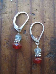 SALE Labradorite and Carnelian Sterling by hoitytoitydesigns, $9.50
