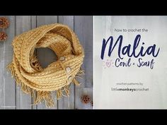 How to Crochet the Malia Buttoned Cowl + Infinity Scarf with Little Monkeys Crochet - YouTube