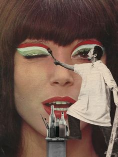 Belgium-based artist Sammy Slabbinck has turned his large collection of these magazines into surreal pop art collages.