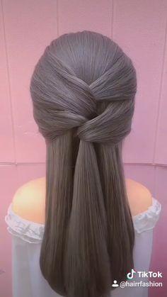 Hairdo For Long Hair, Bun Hairstyles For Long Hair, Braided Hairstyles, Office Hairstyles, Anime Hairstyles, Stylish Hairstyles, Hairstyles Videos, School Hairstyles, Hair Updo