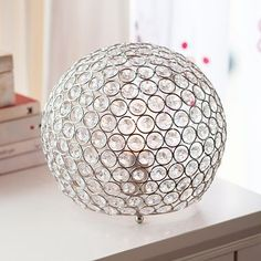 Shimmer Table Lamp is the perfect style accent for the dreary dorm. PB  $79