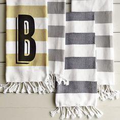Hammam Stripe Hand Towels | West Elm