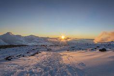 Frozen sunset by stormrider