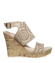 New Look ladies shoes - sandals, wedges, boots, high heels and more. Shop our fantastic range of shoes for women now. Cork Wedges, Shoe Gallery, Laser Cutting, New Look, Open Toe, Shoes Sandals, High Heels, Cream, Lady