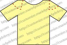 10 tipos de cortes para customizar uma camiseta                                                                                                                                                      Mais