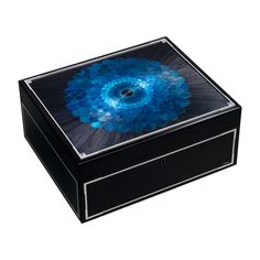Exceptional straw marquetry watch box