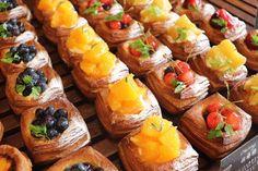 Bake Croissants, Danishes, Sweet Bakery, Fruit Tart, Cafe Food, Aesthetic Food, Plated Desserts, Fun Desserts, Food Photo