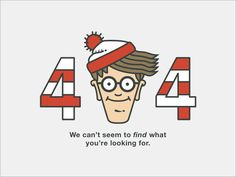 What better way to show a 404 screen than with Waldo?