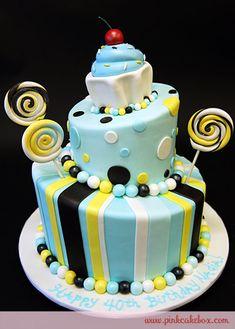 Cupcake Topsy Turvy Cake