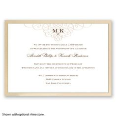 Imperial Love Knots - Champagne Invitation
