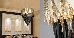 And much more. Luxury Life, Luxury Homes, Ceiling Lamps, Luxury Lighting, Dining Room Lighting, Light Decorations, Portuguese, Luxury Furniture, Chandeliers