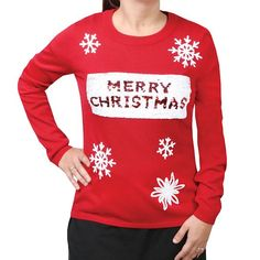 Looking for Women's Sequin-Swipe Red Holiday Sweater - Merry Christmas/Happy New Year ? Check out our picks for the Women's Sequin-Swipe Red Holiday Sweater - Merry Christmas/Happy New Year from the popular stores - all in one. Holiday Sweater, Christmas Sweaters, Christmas Clothing, Top Christmas Gifts, Merry Christmas And Happy New Year, Inspirational Gifts, Looking For Women, Thoughtful Gifts, Unique Gifts