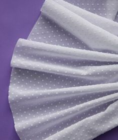 Originated in Switzerland and handspun on looms, dotted swiss is a lightweight, breathable fabric with a sprinkled elegant dotted motif. Its perfect for warm weather and a very popular material for veils. Wedding Dress Material, Wedding Fabric, Diy Wedding, Dream Wedding, Wedding Dresses, Dress Attire, Textiles, Interior Design Living Room, Wedding Hairstyles