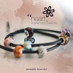 "B•you Jewels ""eart"" enamel beads Enjoy Collection. #beads #enamel #bracelet #charms #cool #fashion"