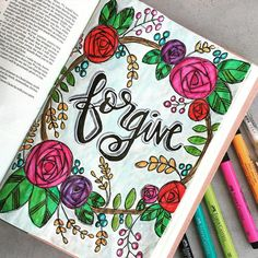 Bible Journaling by @ribbonzncurlz