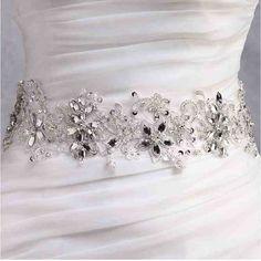 Rhinestone Sashes For Wedding Dresses
