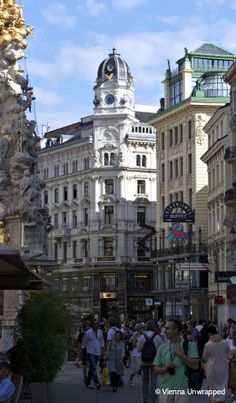 The Graben, former Roman castle ditch, now Vienna's luxury promenade. Without Makeup, Life Photo, Vienna, Squares, Roman, Castle, Street View, Luxury, Trench