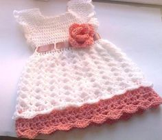 Cute baby dress with crochet flower   Craftsy