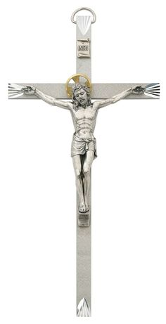 Celtic and St Benedict Medal and Enamelled Saint Michael Medal Holy Land Handmade Wall Wood Cross Crucifix 10 Inches Holy Land Market