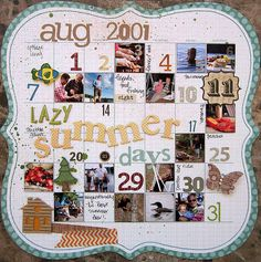 Fun way to document a summer!