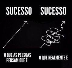 Muitas pessoas pensam que o sucesso aparece sem mais nem menos... Que basta estalar os dedos. :)