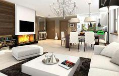 Morden residential living + dinning interior design idea▪▪